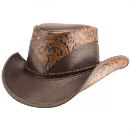 Head 'N Home Falcon Embossed Leather Western Hat
