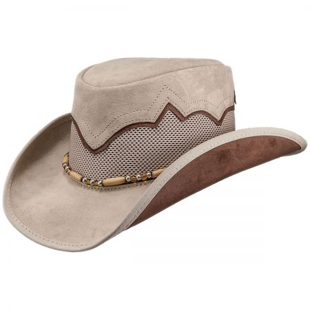 Sierra Leather and Mesh Western Hat alternate view 1