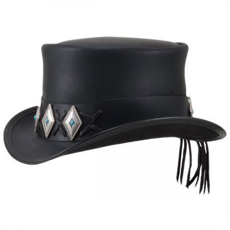 Head 'N Home El Dorado Lace Concho Leather Top Hat