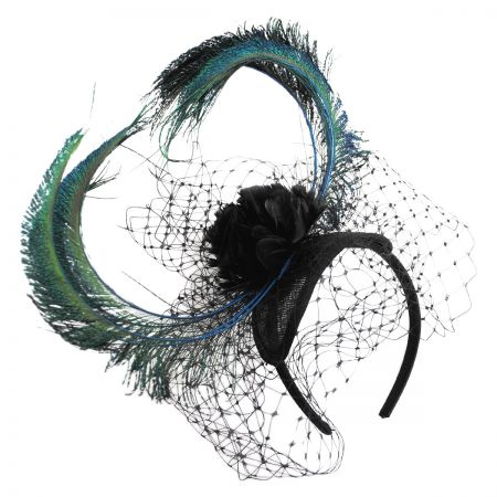Cabaret Straw Fascinator Headband alternate view 1