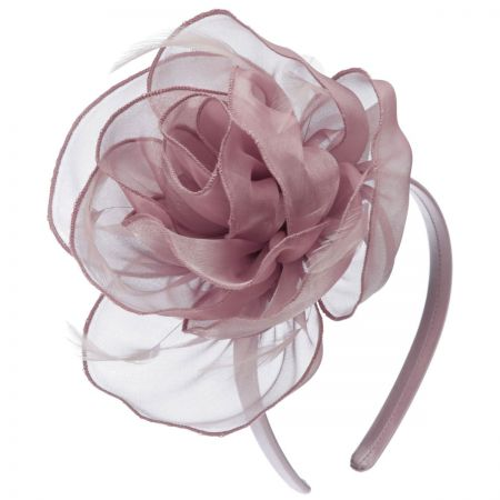 Scala Organza Rose Fascinator Headband