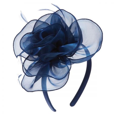 Organza Rose Fascinator Headband alternate view 2