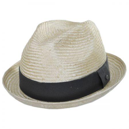 EK Collection by New Era Essential Sisal Straw Trilby Fedora Hat