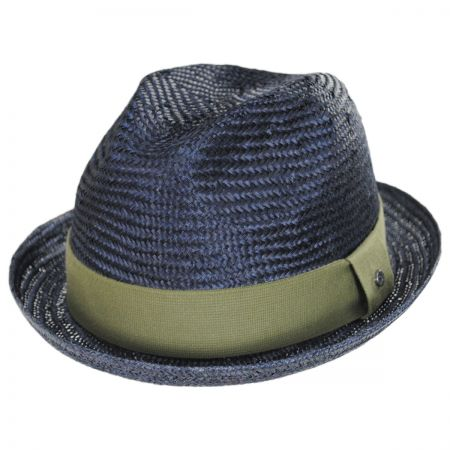 EK Collection by New Era Essential Sisal Straw Trilby Fedora Hat