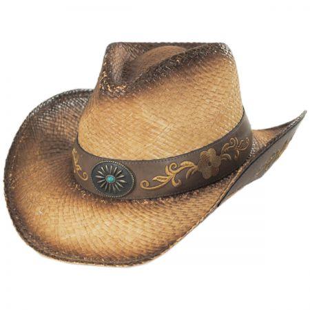 Wildflower Aged Straw Western Hat