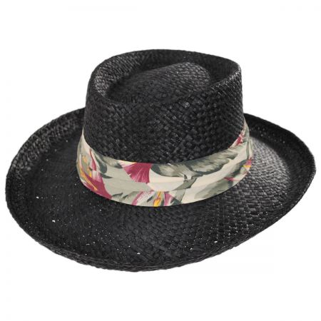 Kenny K Back Nine Straw Gambler Hat