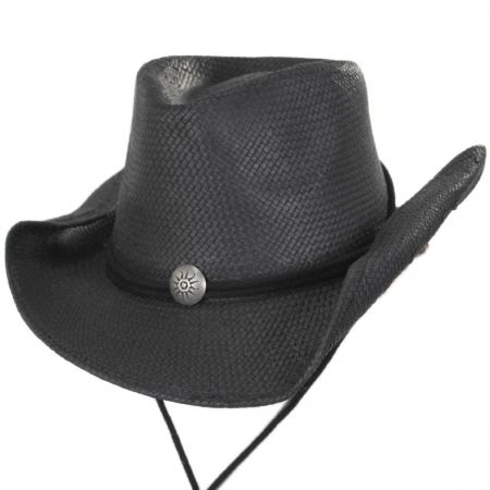 Scala Chincord Toyo Straw Western Hat