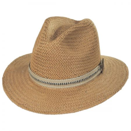 Bailey Kilgore Raindura Toyo Straw Fedora Hat
