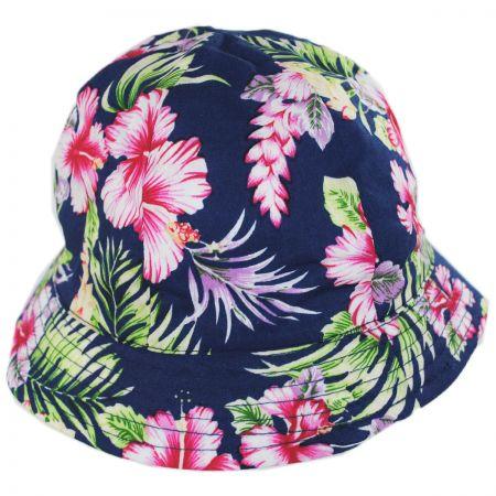 Scala Baby Hibiscus Cotton Bucket Hat