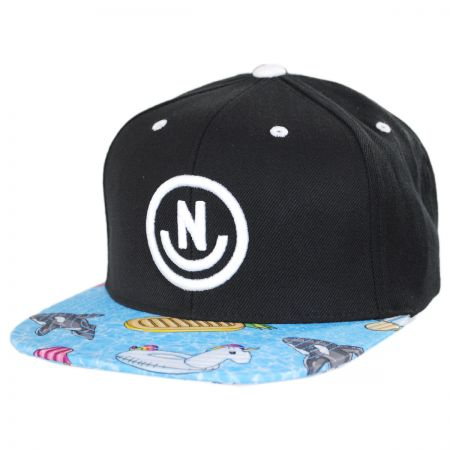 Daily Smile Pattern Snapback Baseball Cap alternate view 1