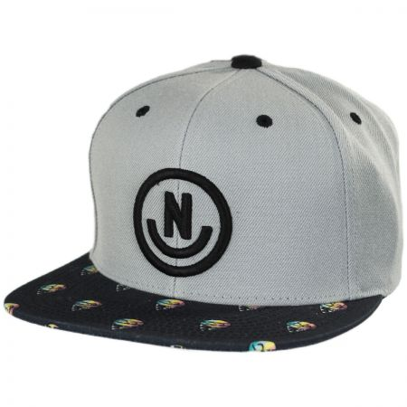 Daily Smile Pattern Snapback Baseball Cap alternate view 5