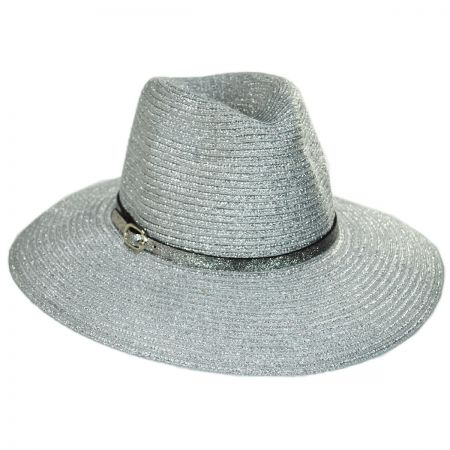 Something Special Forge Metallic Straw Fedora Hat