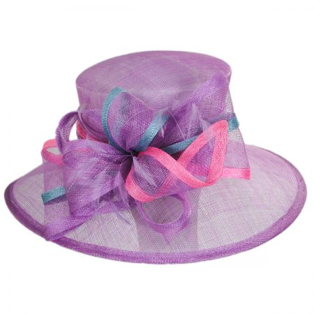 Sophia Cotton Candy Sinamay Straw Boater Hat d1724b8a621