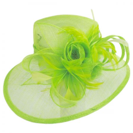 Sophia Tulip Sinamay Straw Downbrim Hat