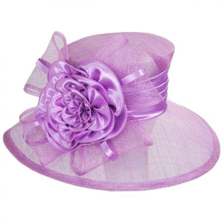 Sophia Zinnia Sinamay Straw Boater Hat