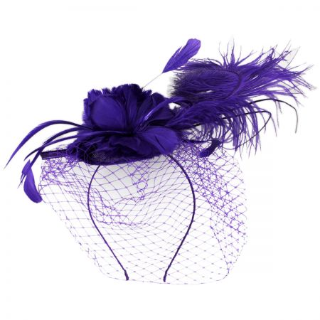 Purple Fascinator at Village Hat Shop 2ec7ebdd39a