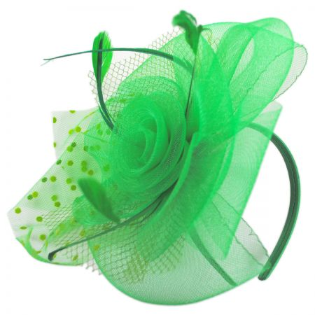 Swiss Dot Mesh Fascinator Headband alternate view 4