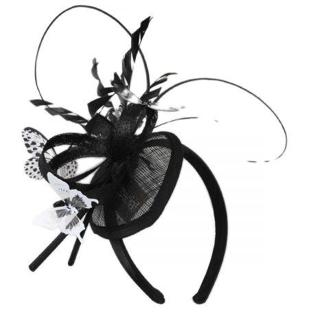Papillon Sinamay Straw Fascinator Headband alternate view 1