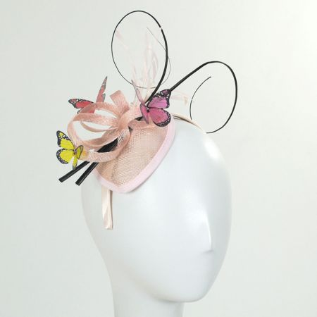Papillon Sinamay Straw Fascinator Headband alternate view 4
