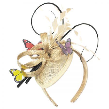 Papillon Sinamay Straw Fascinator Headband alternate view 7