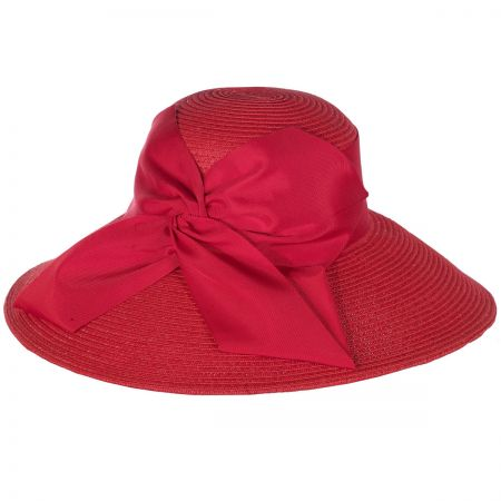 Twist Bow Packable Toyo Straw Lampshade Hat alternate view 2