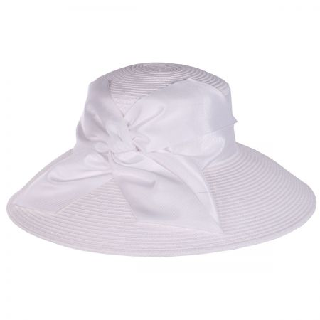 Twist Bow Packable Toyo Straw Lampshade Hat alternate view 3
