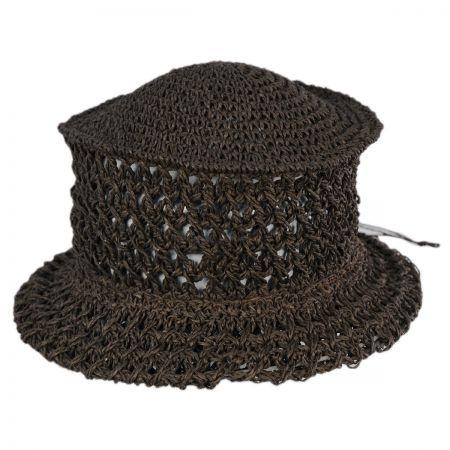B2B Veggie Fiber Straw Topper Hat - Brown