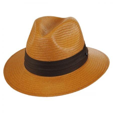B2B Jaxon Augusta Toyo Straw Safari Fedora Hat