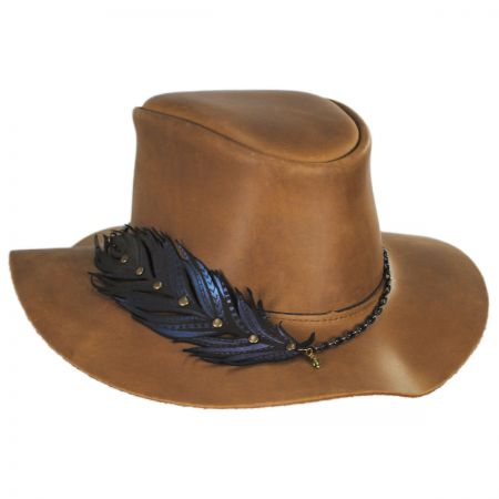 Head 'N Home Boheme Leather Outback Hat