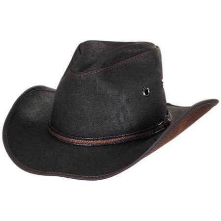 Head 'N Home Stockade Waxed Cotton Western Hat