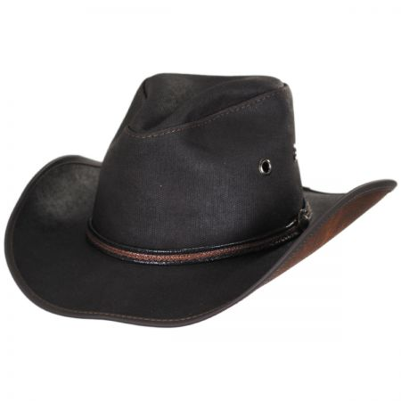 Head 'N Home Stockade Waxed Cotton Western Hat