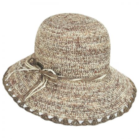 Hatch Hats Baja Crocheted Straw Cloche Hat