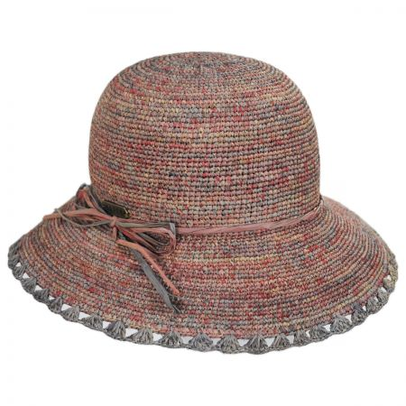 Baja Crocheted Straw Cloche Hat alternate view 5