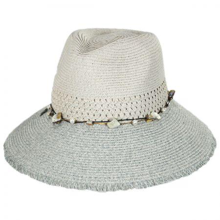 Scala Playa Toyo Straw Fedora Hat