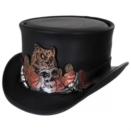 Mortality Leather Top Hat alternate view 1