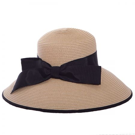 Packable Toyo Straw Lampshade Hat alternate view 1