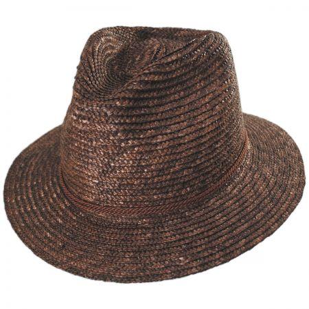 Brixton Hats Lera Straw Fedora Hat