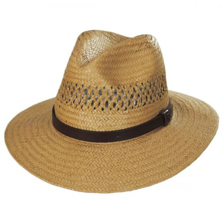 Brixton Hats Case Vent Toyo Straw Safari Fedora Hat