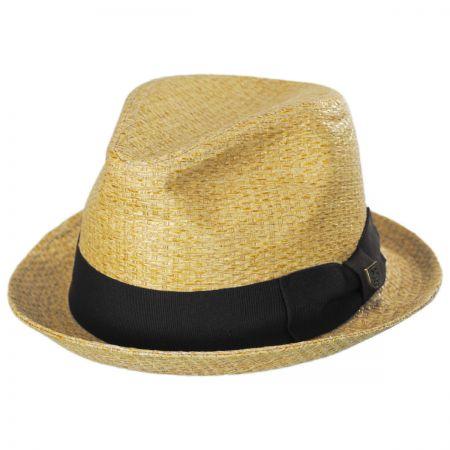 Brixton Hats Castor Sewn Toyo Straw Trilby Fedora Hat
