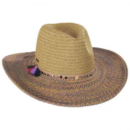 Karen Keith Horizon Toyo Straw Fedora Hat