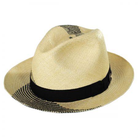 Dobbs Tourbilon Panama Straw Fedora Hat