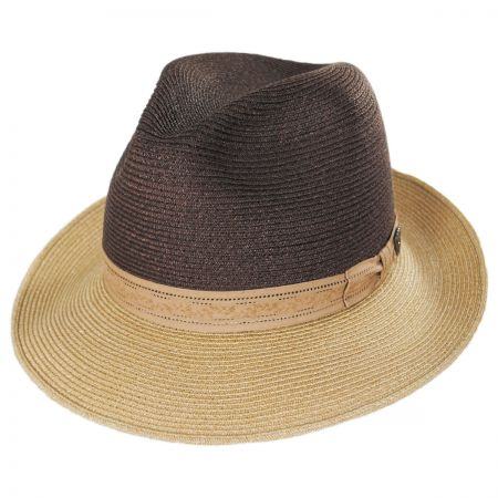 Hatfield Hemp Straw Fedora Hat alternate view 1