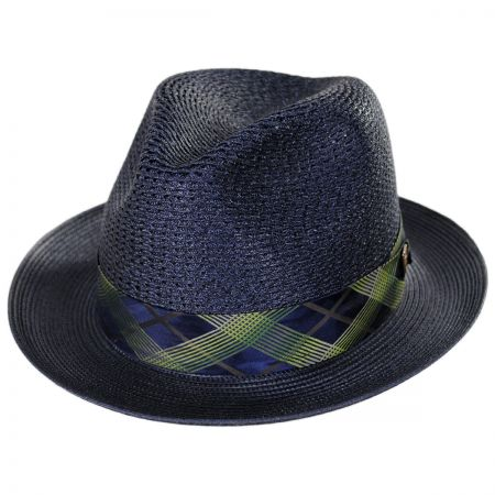 Dobbs Cable Line Milan Straw Fedora Hat