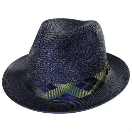 Dobbs Cable Line Milan Straw Fedora Hat