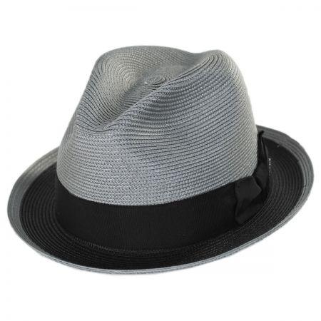 Dobbs Theadore Milan Straw Trilby Fedora Hat