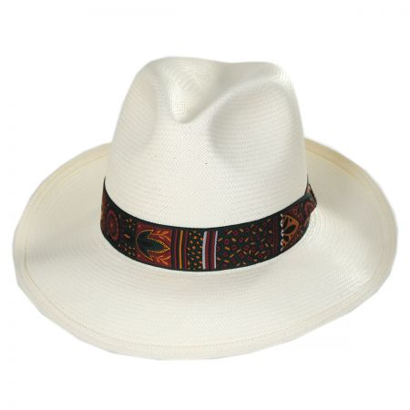 Dobbs Domino Park Shantung Straw Fedora Hat