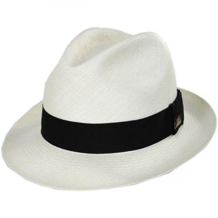 Monticello Grade 12 Panama Straw Fedora Hat alternate view 1