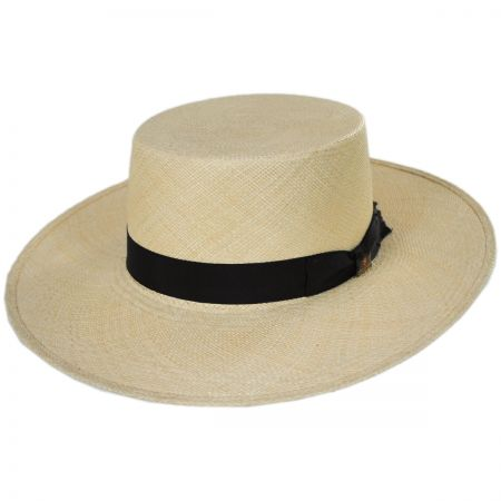 Bilbao Grade 8 Panama Straw Bolero Hat alternate view 1
