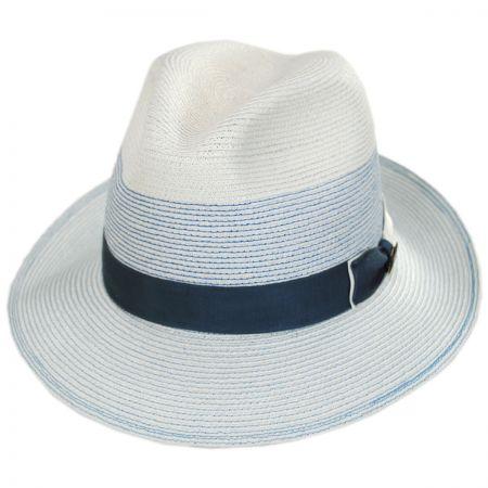 Biltmore Toulouse Milan Hemp Straw Fedora Hat