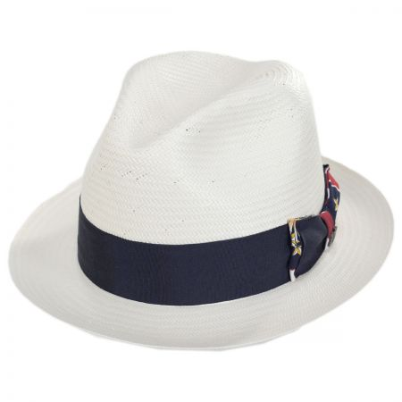 Colonial Shantung Straw Trilby Fedora Hat alternate view 1